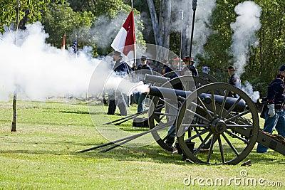 Civil War Re-Enactment 21- Union Artillery Editorial Stock Image