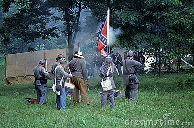 Civil war reenactment Editorial Image