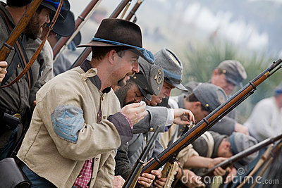 Civil War Reenactment 2008 Editorial Stock Image