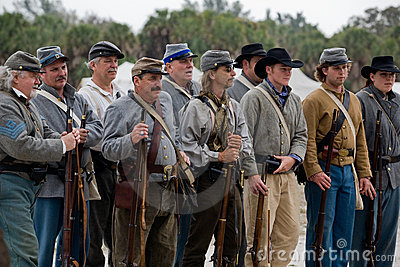 Civil War Reenactment Editorial Photography