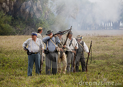 Civil War Reenactment Editorial Stock Image