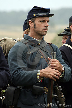 Civil War Reenactor Editorial Photography