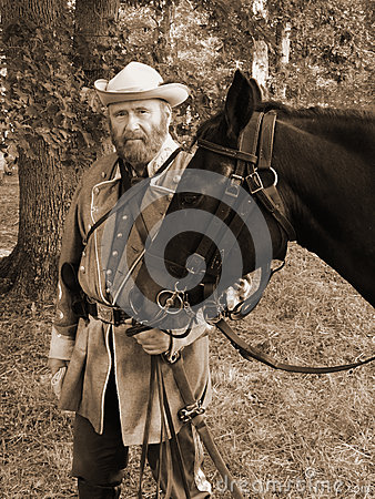 Civil War Reenactor Editorial Photo