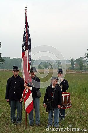 Civil War Reenactors Editorial Stock Photo
