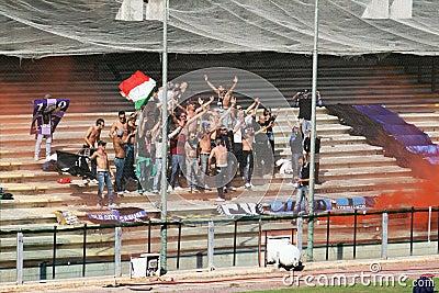Civitavecchia supporters Editorial Image