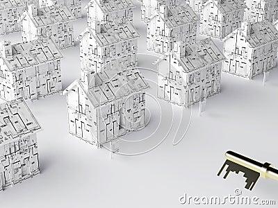 Clé à une maison neuve
