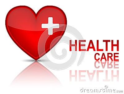 Clé au concept de santé de santé.