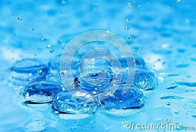Éclaboussement de l eau