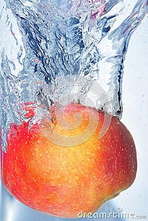 Éclaboussement de la pomme