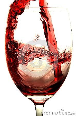 Éclaboussure de vin rouge