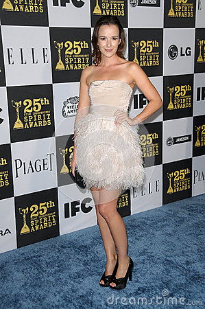 Claire Van Der Boom at the 25th Film Independent Spirit Awards, Nokia Theatre L.A. Live, Los Angeles, CA. 03-06-10 Editorial Photo