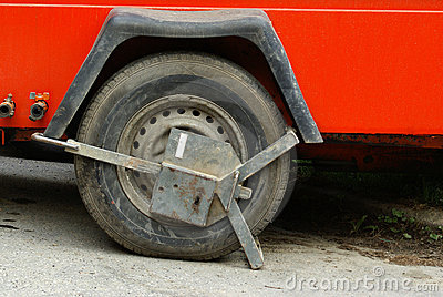 Clamp on car wheel
