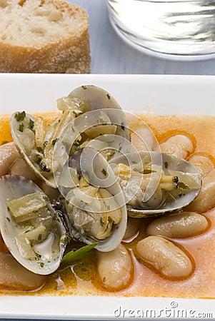 Clams and beans asturias style spanish cuisine stock for Asturian cuisine