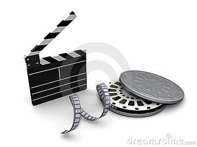 Clapboard film and reel case