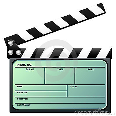 Clapboard with lcd