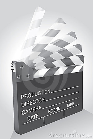 Clapboard in move