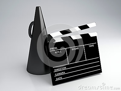 Clapper board, 3d illustration