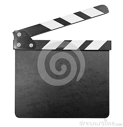 Free Clapper Board Isolated With Clipping Path Royalty Free Stock Images - 33987249