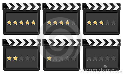 Clapper board with stars 2