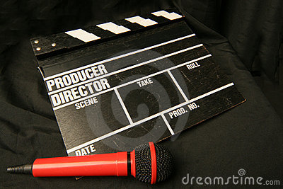 Clapper and microphone