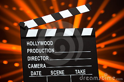 Clapperboard or slate board
