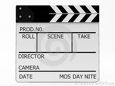 Clapperboard white
