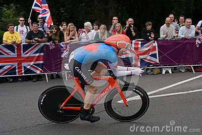 Clara Hughes in the Olympic Time Trial Editorial Stock Photo