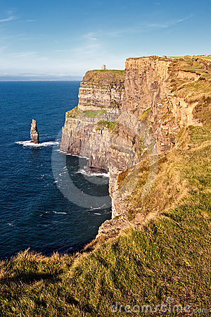 Clare απότομοι βράχοι ομο Ιρλανδία moher
