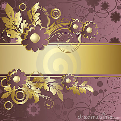 Claret background  with  flowers