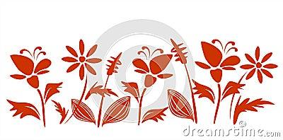 Claret flowers