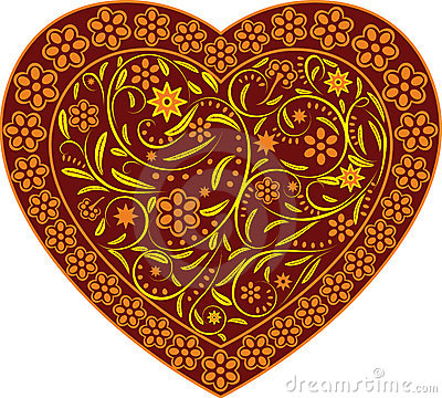 Claret heart with ornament