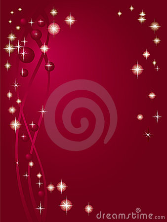 Claret red background with stars