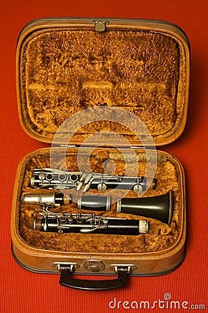 Clarinet in case