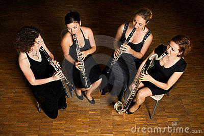 Clarinet quartet performance