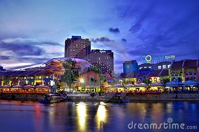 Clarke Quay, Singapore Editorial Stock Image