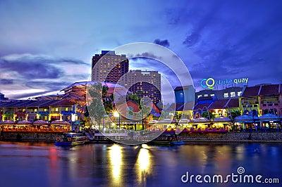 Clarke Quay, Singapore Editorial Stock Image