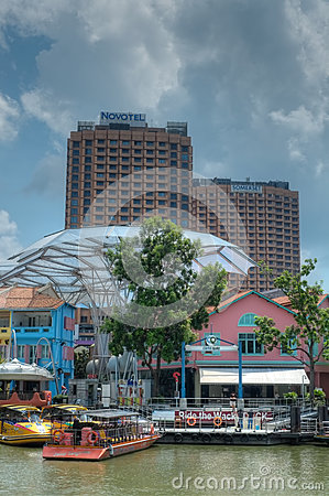 Clarke Quay, Singapore Editorial Photography