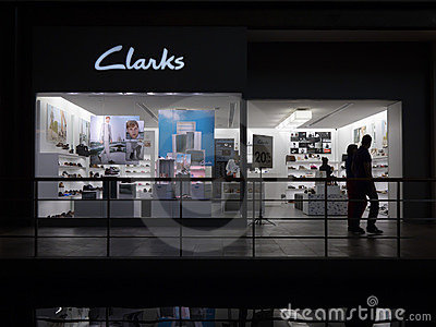 Clarks retail outlet Editorial Stock Photo