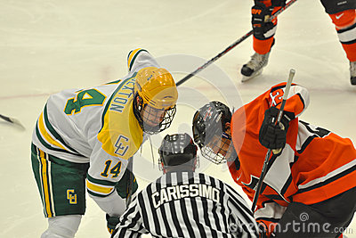 Clarkson #14 in NCAA Hockey Game Editorial Image