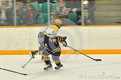 Clarkson #2 in NCAA Hockey Game Editorial Photo