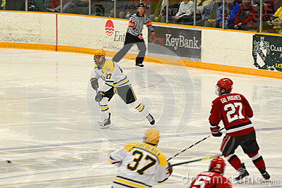 Clarkson #27 in NCAA Hockey Game Editorial Photography