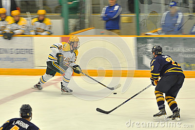 Clarkson #32 in NCAA Hockey Game Editorial Photo