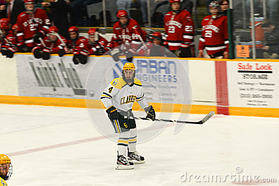 Clarkson #4 in NCAA Hockey Game Editorial Photography