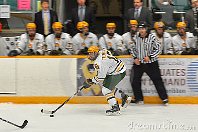 Clarkson Nick Tremblay in NCAA Hockey Game Editorial Stock Photo