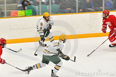 Clarkson players in NCAA Hockey Game Editorial Photography