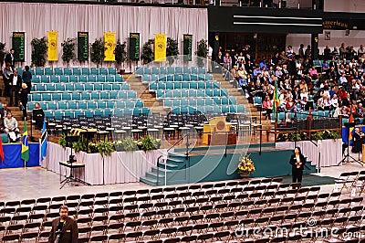 Clarkson University 2010 Graduation Ceremony Editorial Stock Photo