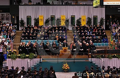 Clarkson University 2010 Graduation Ceremony Editorial Image