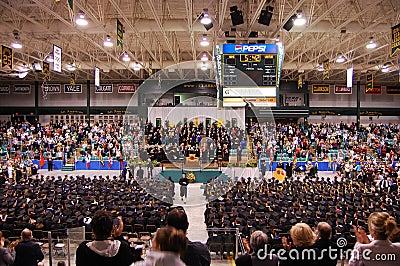 Clarkson University 2010 Graduation Ceremony Editorial Photo