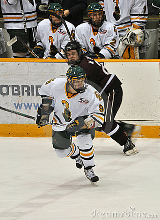 Clarkson University player in NCAA Hockey Game Editorial Image