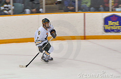 Clarkson University player in NCAA Hockey Game Editorial Photography